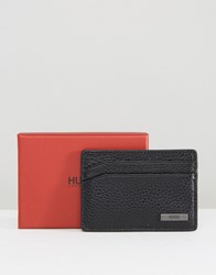 Hugo By Boss Leather Element Card Holder Black