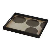 Notre Monde Silver Dots Glass Tray Rectangular Small