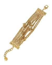 Boucle Knot Chain Bracelet St. John Collection Light Gold