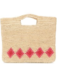 Nannacay Diamond Pattern Basket Neutrals