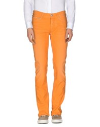 Care Label Trousers Casual Trousers Men Orange
