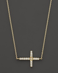 Meira T 14K Yellow Gold Cross Necklace No Color