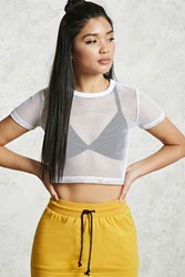 Forever 21 Cropped Fishnet Tee