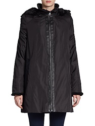 Marc New York Faux Fur Trimmed Louisa Jacket Black
