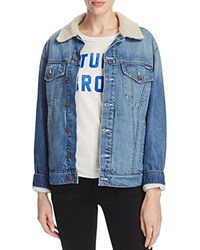 Mother The Drifter Sherpa Denim Jacket Always Think Twice