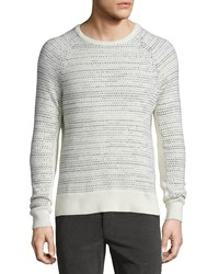 Rag And Bone Rag And Bone Justic Textured Cashmere Crewneck Sweater Ivory Size Medium