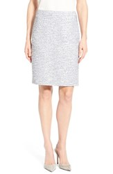 Women's Halogen Welt Pocket Pencil Skirt Navy Melange Pattern
