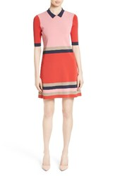 Ted Baker Women's London Origami Stripe Knit Dress Red