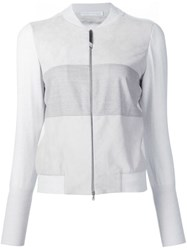 Fabiana Filippi Zipped Jacket Grey