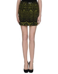 Roberto Cavalli Mini Skirts Green