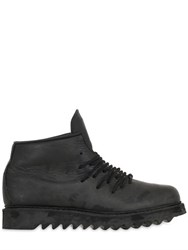 11 By Boris Bidjan Saberi Coated Leather Ankle Boots