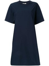 Muveil Plain T Shirt Dress Blue