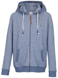 Fat Face Nepped Full Zip Hoodie Chambray