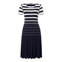 Aquascutum London Mesa Knitted Stripe Dress