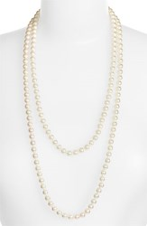 Majorica Women's 7Mm Round Pearl Endless Rope Necklace White Silver