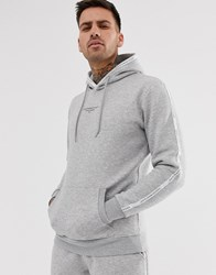 Good For Nothing Muscle Hoodie In Grey With Logo Side Stripe