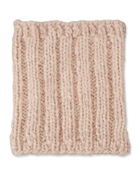 Eugenia Kim Brooke Cashmere Cable Knit Snood Pale Pink