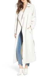 Kendall Kylie Drape Trench Coat White