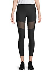 X By Gottex Back Zip Mesh Leggings Black