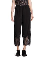 Mcq By Alexander Mcqueen Fluid Cropped Silk Pants Black