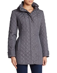 Weatherproof Hooded Quilted Coat Graphite
