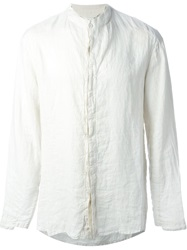 Transit Band Collar Shirt Nude And Neutrals