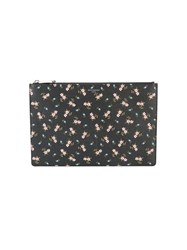Givenchy Flower Print Pouch Black