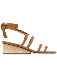 Ritch Erani Nyfc Rit Sandals Women Suede Leather Wood 38 Brown