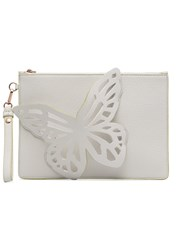 Sophia Webster White Flossy Butterfly Clutch Bag