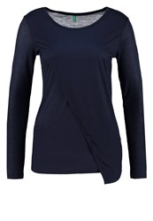 United Colors Of Benetton Long Sleeved Top Navy Blue Dark Blue