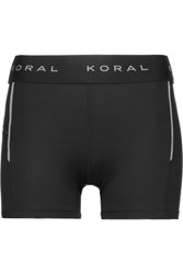 Koral Stretch Jersey Shorts Black