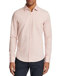 Boss Orange Eslime Tonal Trim Slim Fit Button Down Shirt Pink