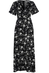 Alice And You Floral Maxi Dress Black