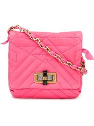 Lanvin 'Happy' Shoulder Bag Pink And Purple