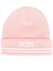 Gcds Logo Print Beanie Pink And Purple