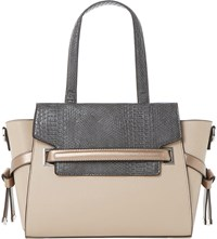 Dune Delphi Faux Leather Winged Tote Blush Synthetic