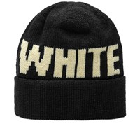 White Mountaineering Big Logo Beanie Black
