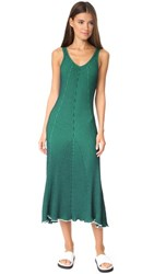 Alexander Wang T By Sleeveless Maxi Dress Navy With Emerald Combo