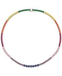 Giani Bernini Multi Color Cubic Zirconia Collar Necklace In Sterling Silver Only At Macy's