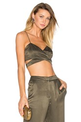House Of Harlow X Revolve Bardot Crop Olive