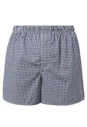 Gap Chambers Gingham Boxer Shorts Royal Blue