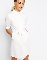 The Laden Showroom X Meekat Night Jar Shirt Dress White