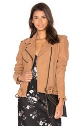 Understated Leather Easy Rider Jacket Tan