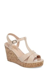 Callisto Teluride Platform Wedge Sandal Blush Synthetic Patent