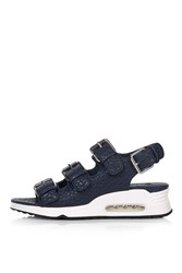 Topshop Fast Sporty Sandals Navy Blue
