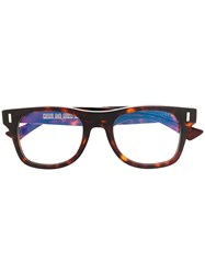 Cutler And Gross Dark Tortoiseshell Glasses Brown