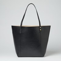 John Lewis Robyn Leather Two Colour Tote Black Nude