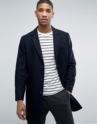 Kiomi Wool Overcoat Navy