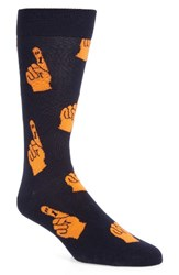 Happy Socks Men's Father's Day Navy Orange