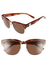 Women's Mcm 55Mm Retro Sunglasses Shiny Gold Striped Burnt